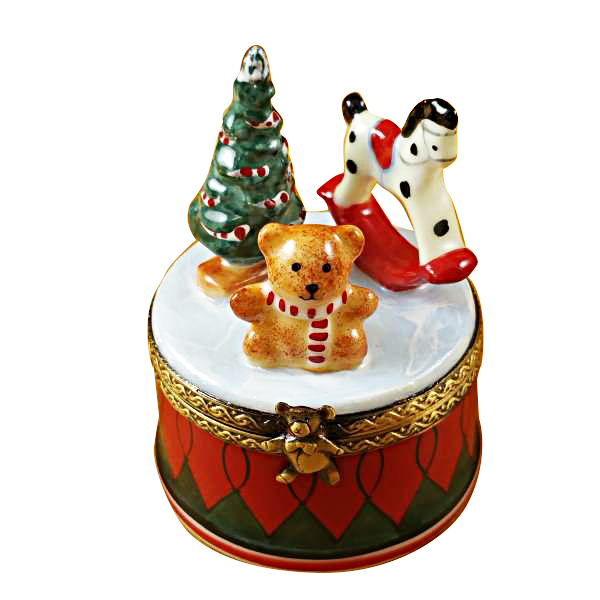 Christmas Drum.Christmas Drum With Toys